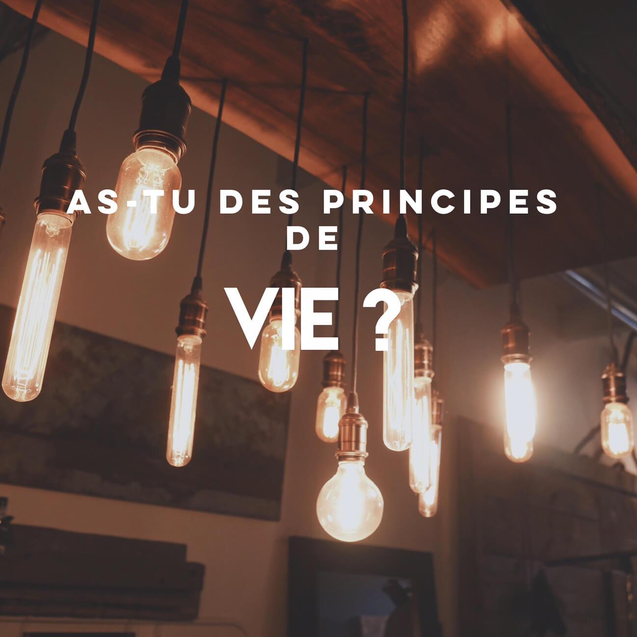 5 principes de vie